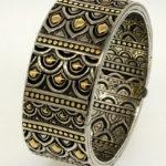 Hardy's sterling men's black sapphire bracelet