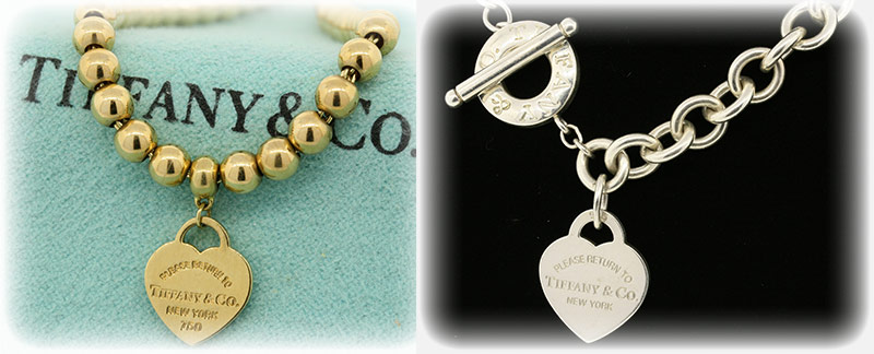 Tiffany & Co. Return To. Heart tag Necklace and Bracelet