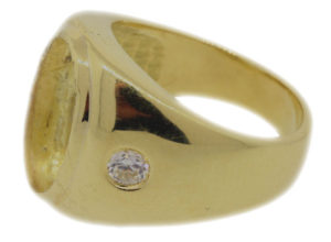 24.3g 18k gold mens ring worth $565