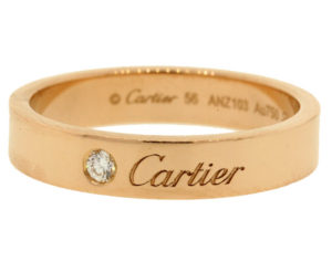 Cartier Rose Gold Signature Diamond Ring