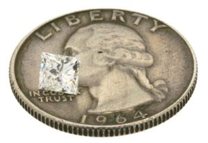 Jason's princess cut diamond worth $575